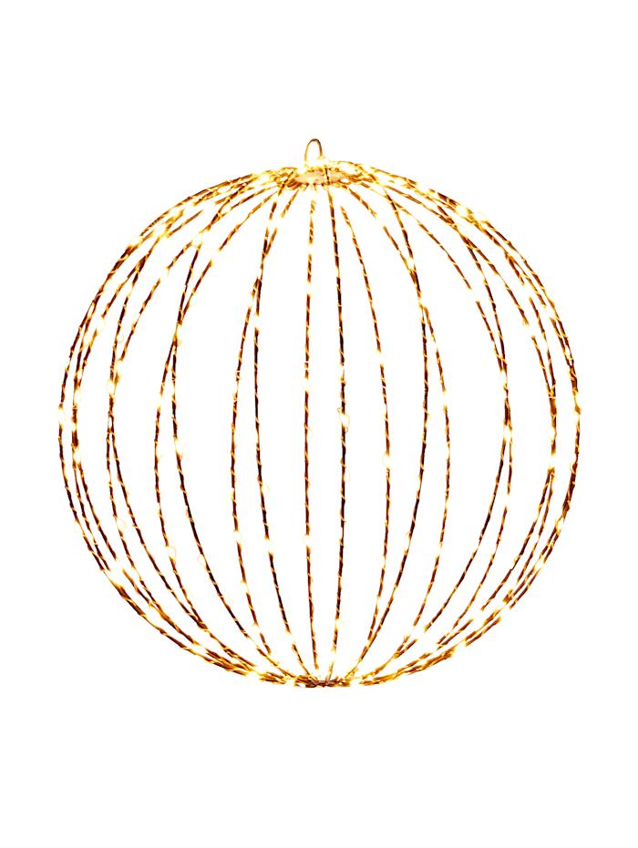 IMPRESSIONEN living LED-Outdoorball, braun, klein