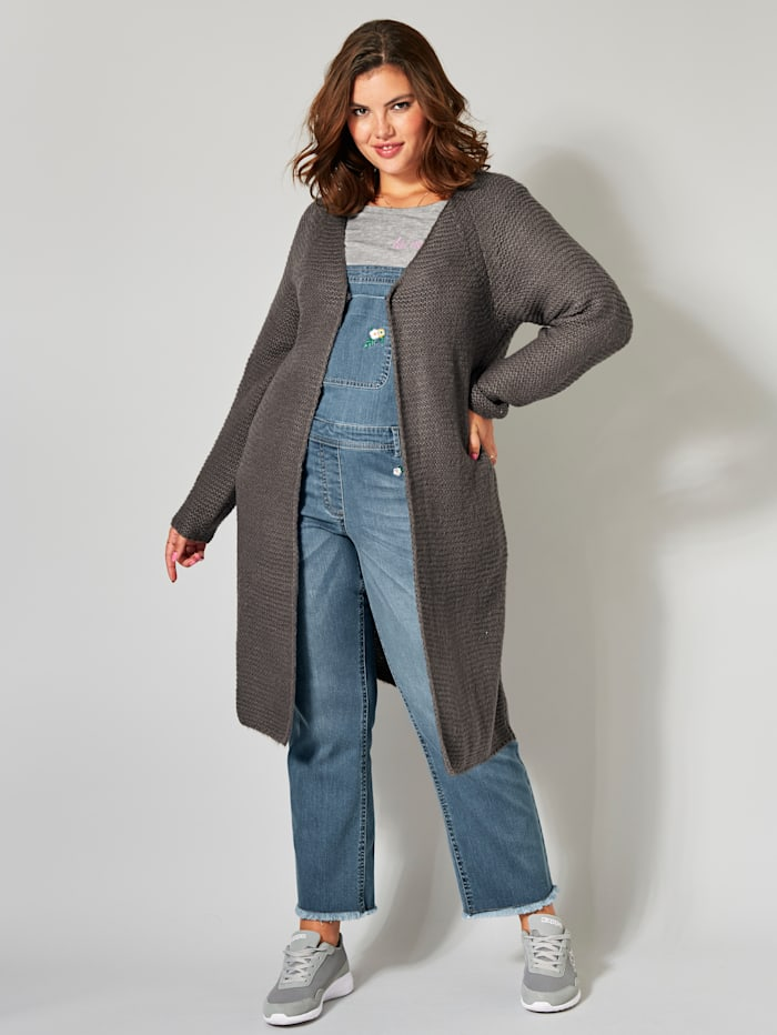Long-Strickjacke