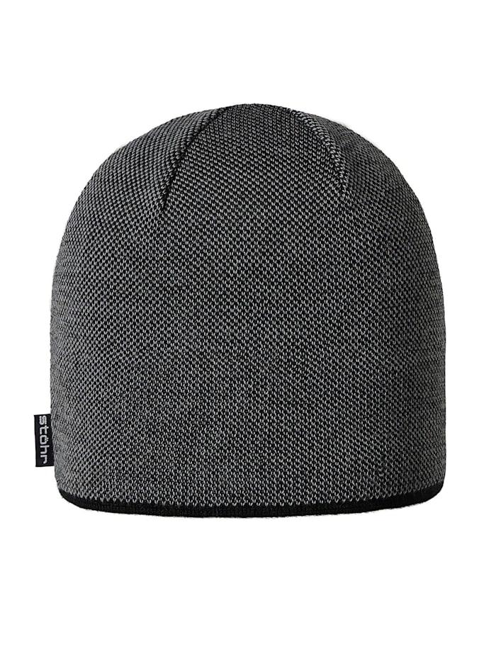 Stöhr PIUS - Zweifarbige Mütze mit wärmendem Thermolite®, Schwarz/Grau