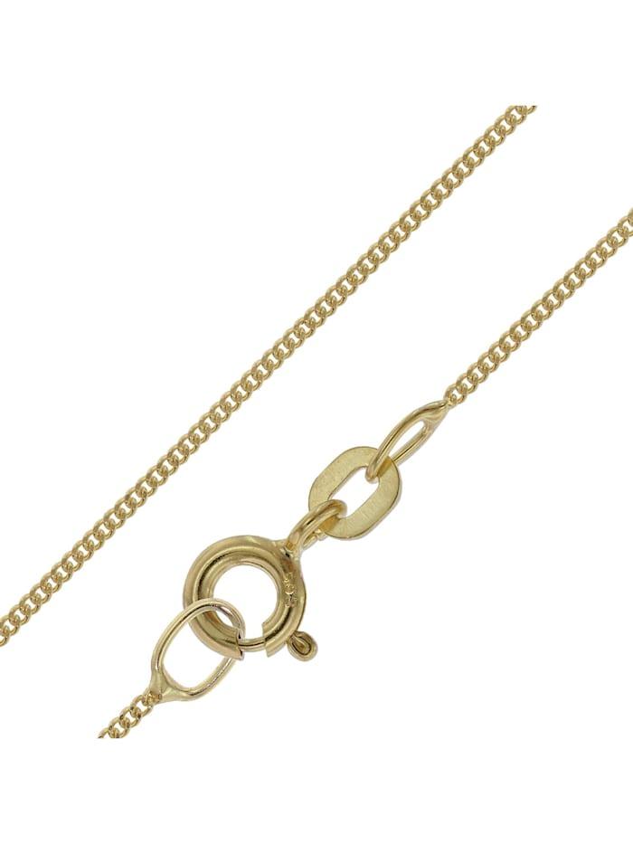 trendor Halskette für Anhänger 585 Gold Flachpanzer-Kette Breite 0,8 mm, Goldfarben