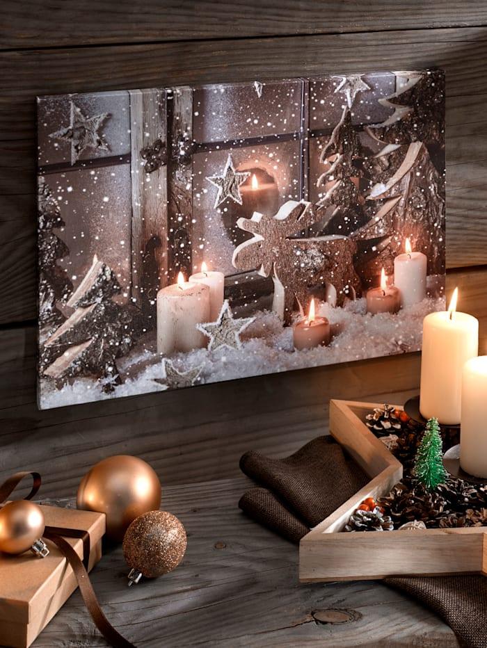 LED obraz Vianoce