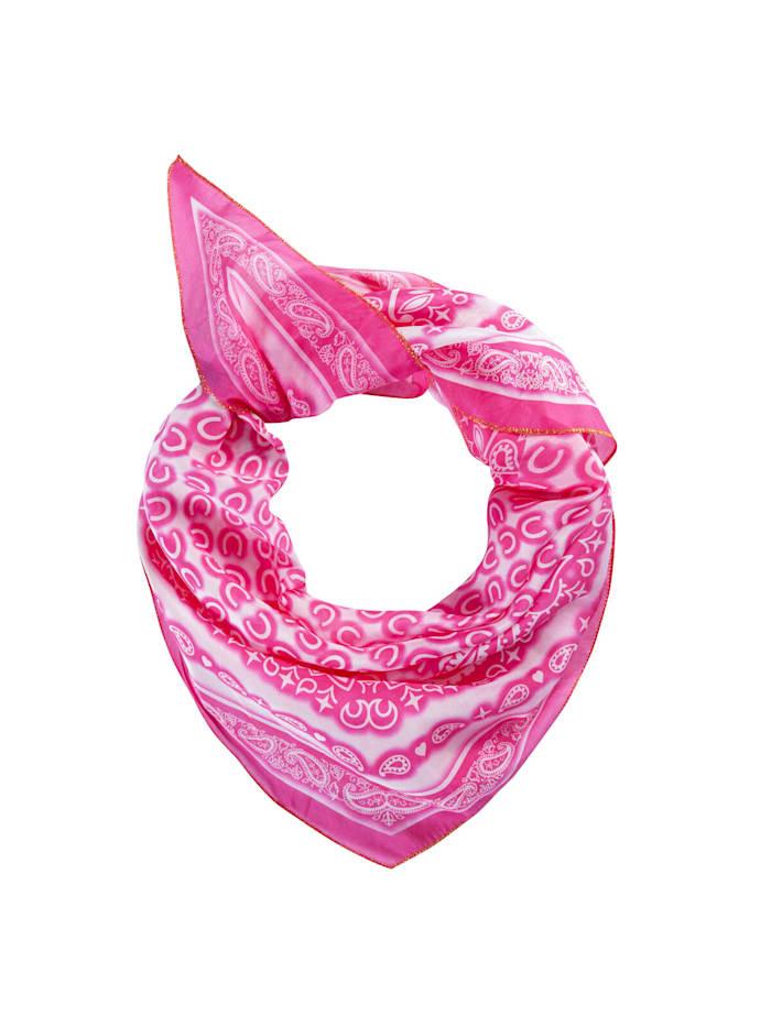 Codello Premium Tuch aus Baumwolle und Seide, dark pink