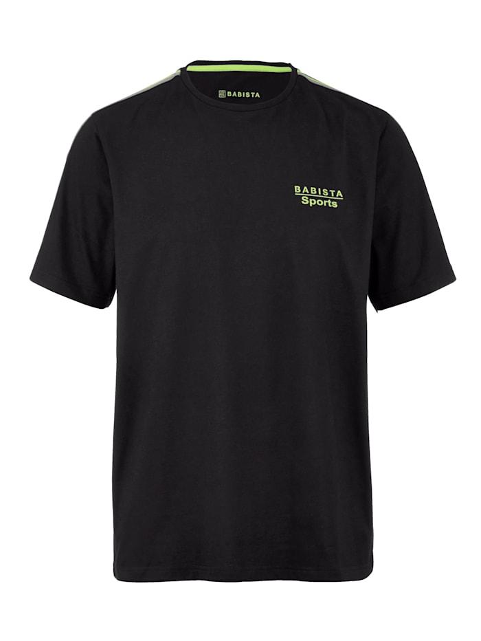BABISTA Shirt van een sneldrogende katoenmenging, Zwart