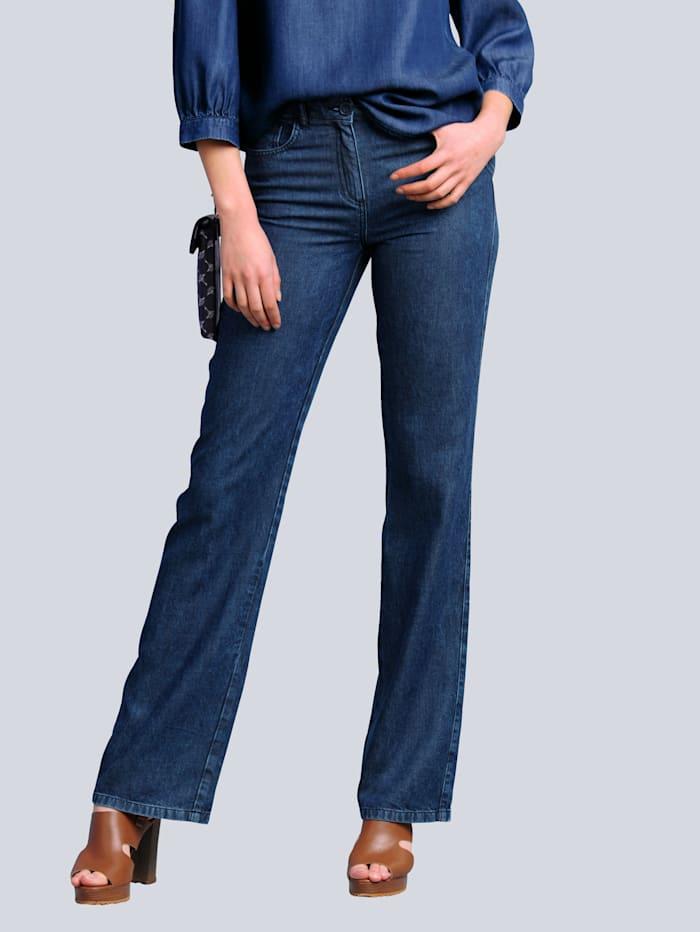 Alba Moda Nohavice v módnom širokom strihu, Dark blue