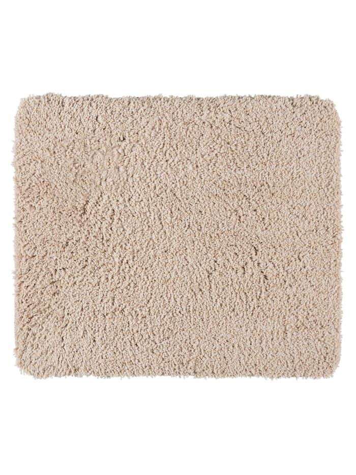 Wenko Badteppich Mélange Sand, 55 x 65 cm, Mikrofaser, Polyester/Mikrofaser: Beige