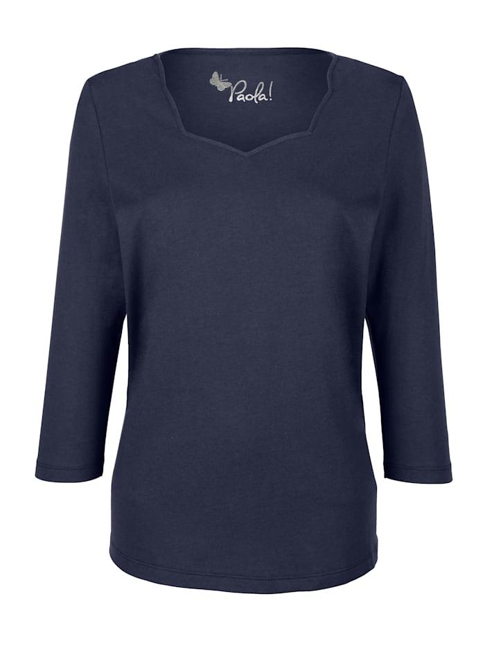 Paola Shirt mit attraktivem Ausschnitt, Marineblau