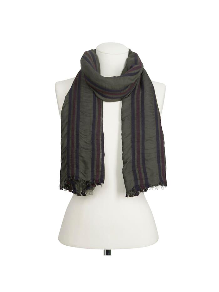 Premium Schal mit gewebten Streifen – Made in Italy