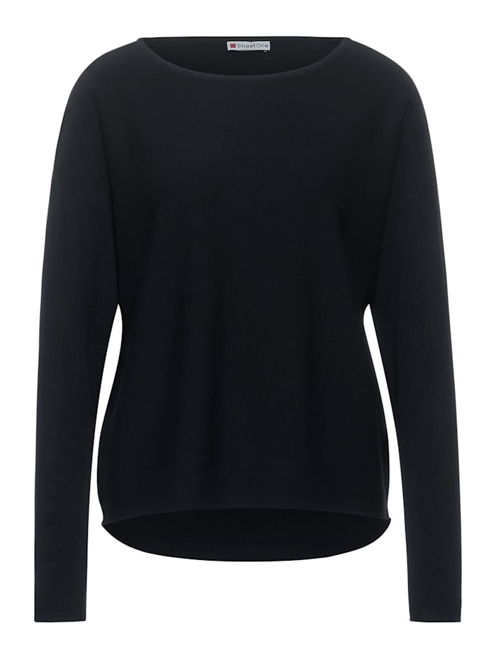 Street One Feinstrick-Pullover, dark shaded grey