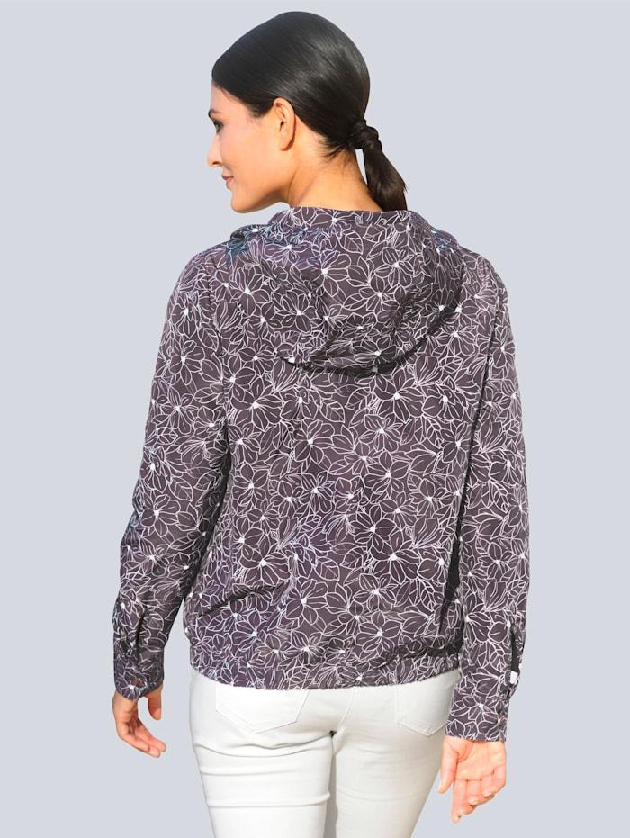 Jacka med mönster som är exklusivt för Alba Moda