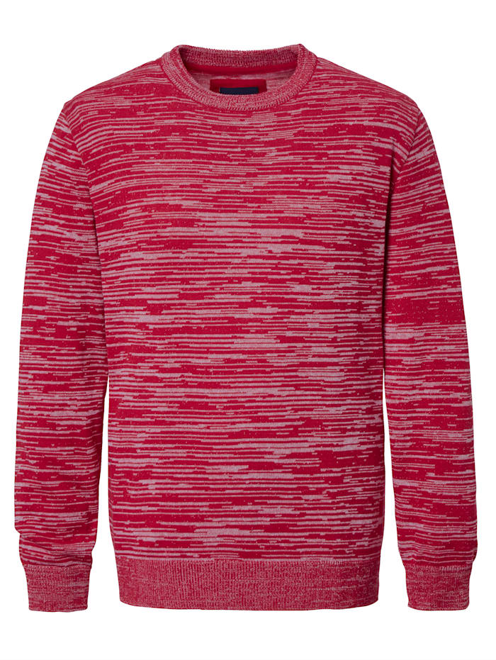 BABISTA Pull-over d'aspect chiné, Rouge