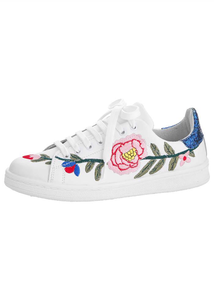 Sneaker mit aufwändiger Blumen-Stickerei