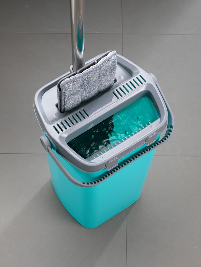 Clever Clean Wasch & Dry Wischsystem mit Zweikammer-Aufsatz