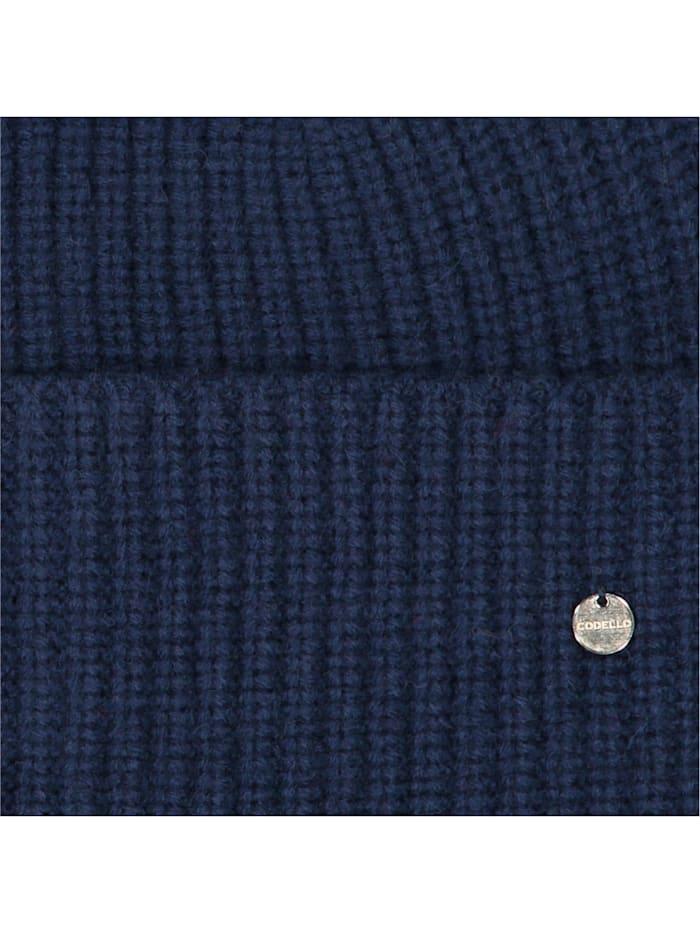 Warme Rippstrickmütze mit Wolle