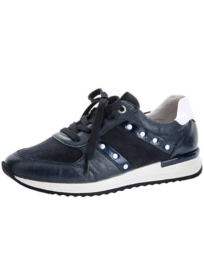 Remonte Sneaker mit kontrastfarbener Nietenverzierung, Marineblau
