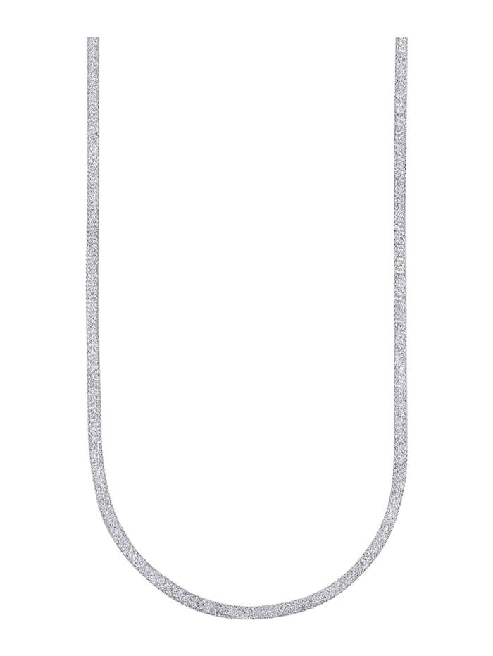Meshhalsband i silver 925, Silverfärgad