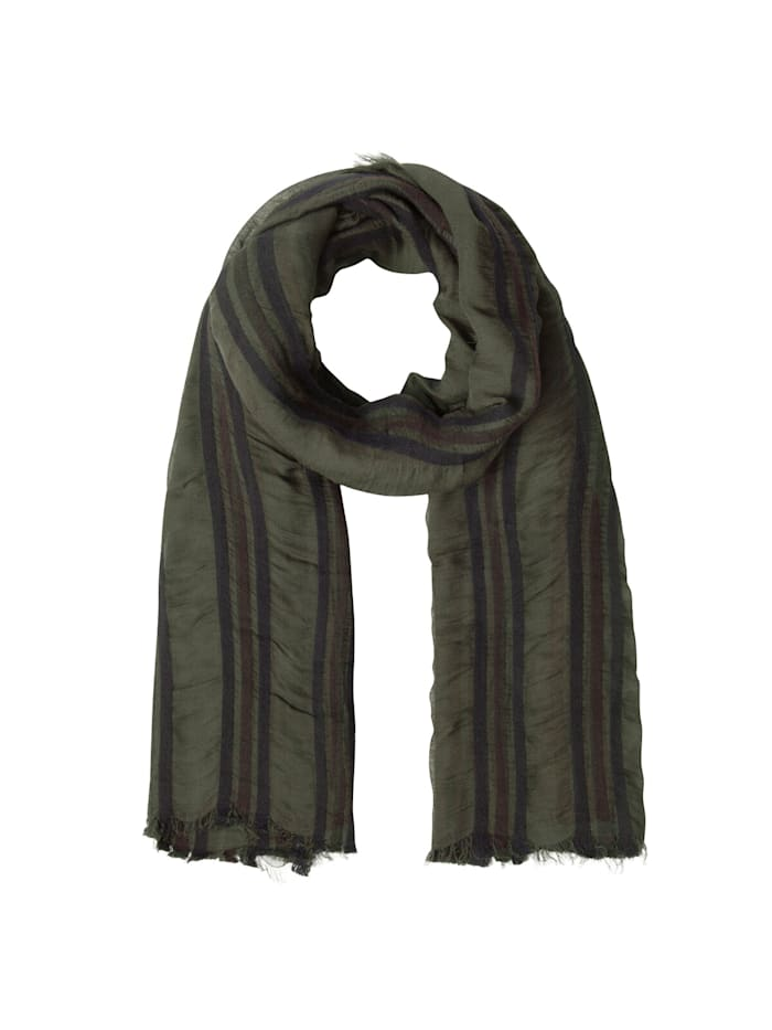 Codello Premium Schal mit gewebten Streifen – Made in Italy, olive