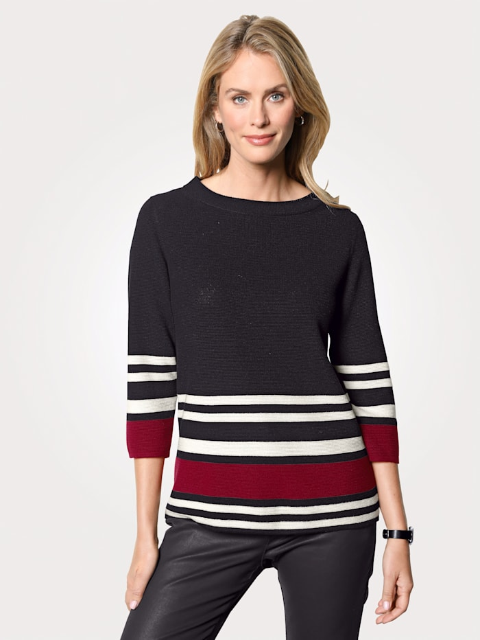 Pullover mit Blockringel