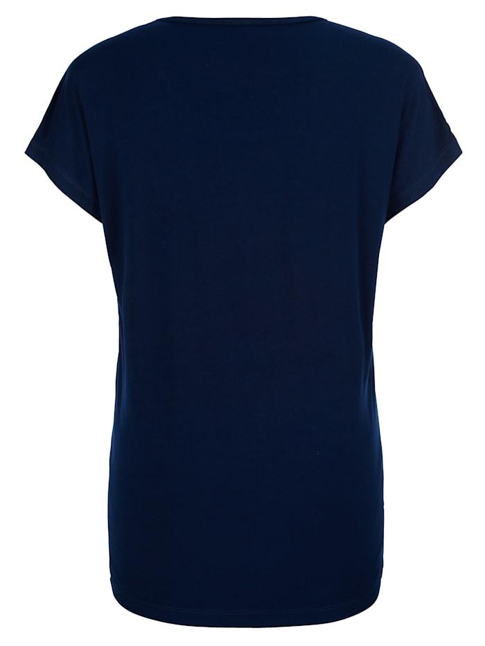 Shirt mit platziertem floralem Druckdesign vorne