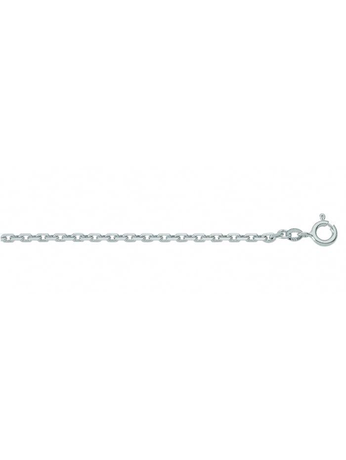 1001 Diamonds Damen Weißgoldschmuck 333 Weißgold Anker Halskette Ø 1,5 mm, silber
