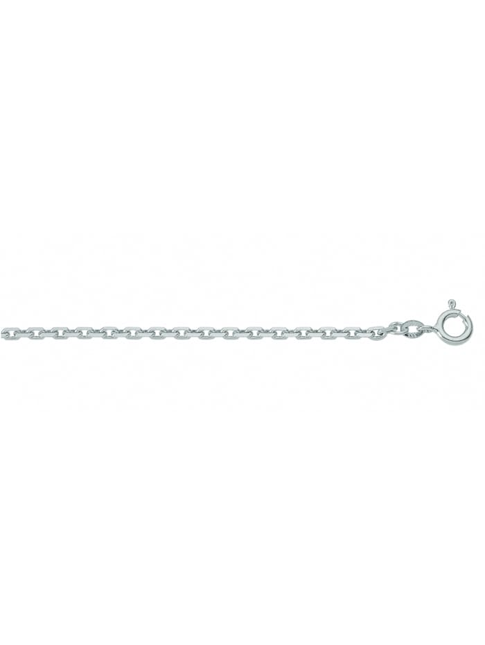 1001 Diamonds Damen Weißgoldschmuck 585 Weißgold Anker Halskette Ø 1,5 mm, silber