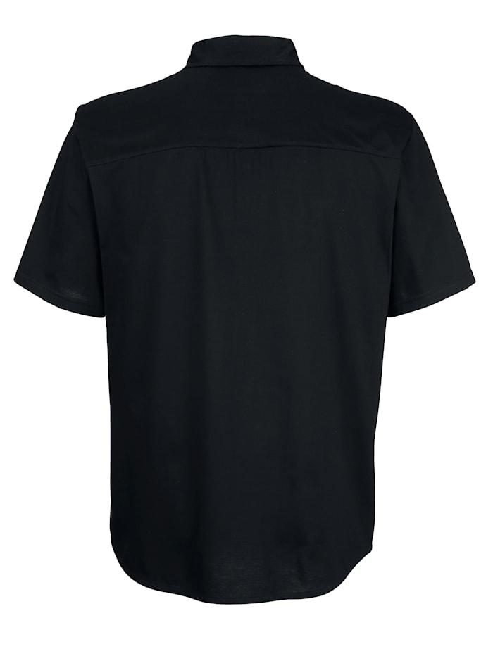 Jerseyskjorta med genomgående knappslå