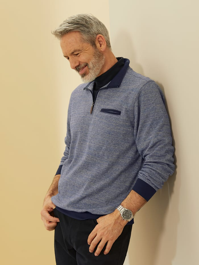 Babista Premium Sweatshirt mit Teflon-Fleckschutz, Blau/Grau
