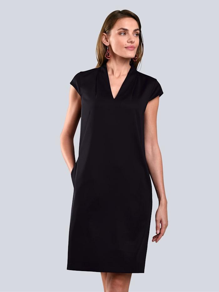 Alba Moda Kleid mit zwei Eingrifftaschen, Schwarz