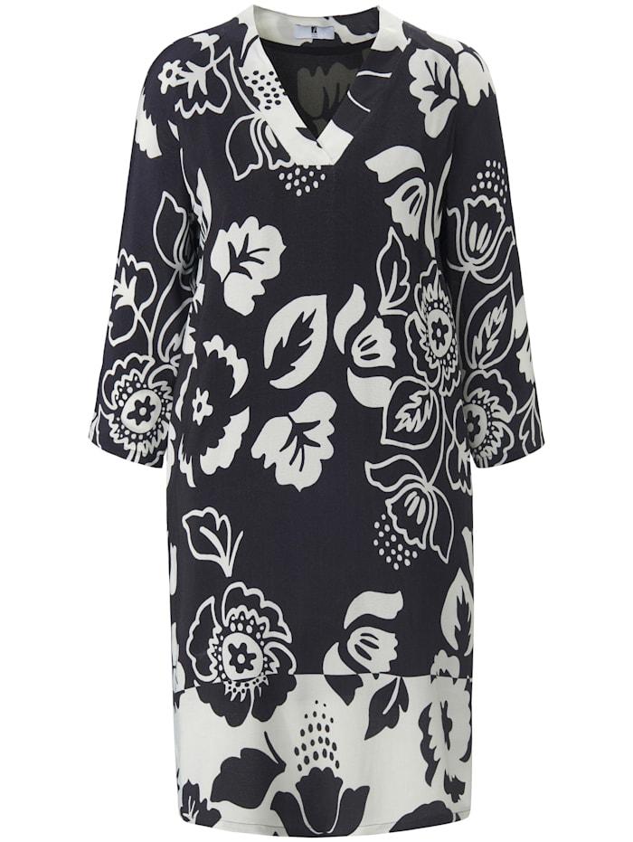 Anna Aura Abendkleid Kleid mit 3/4-Raglanarm, schwarz/offwhite