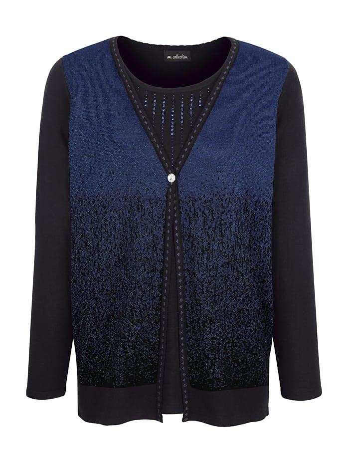 2-in1-Pullover mit schönem Farbverlauf vorne