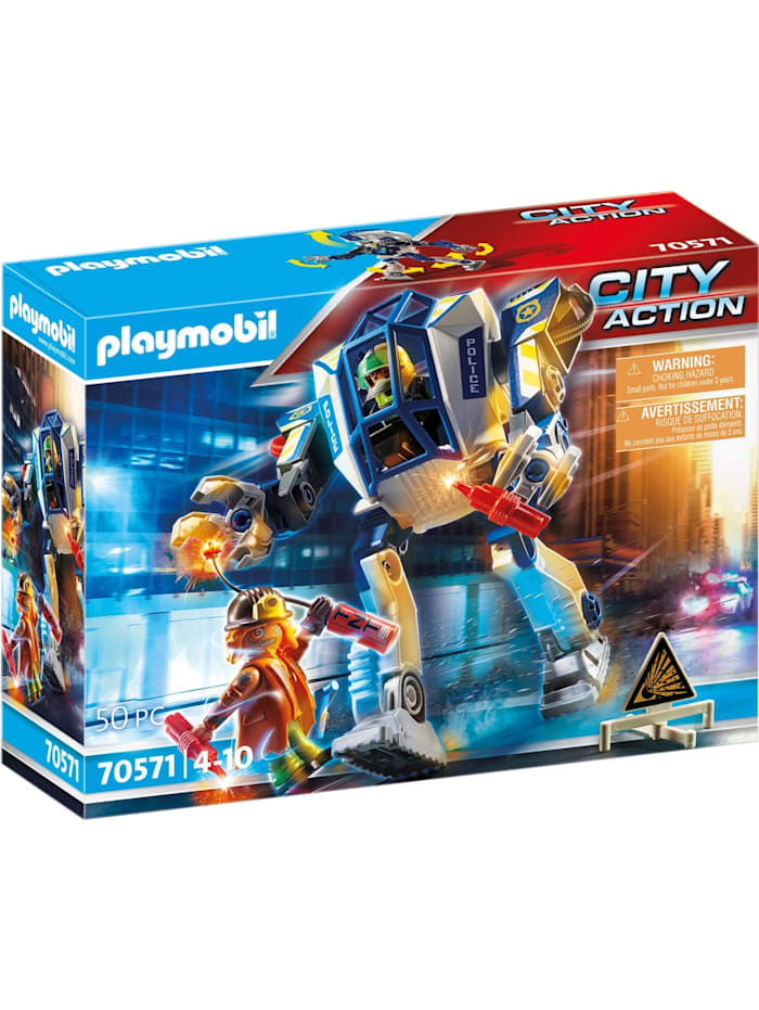 PLAYMOBIL Konstruktionsspielzeug Polizei-Roboter: Spezialeinsatz, Bunt