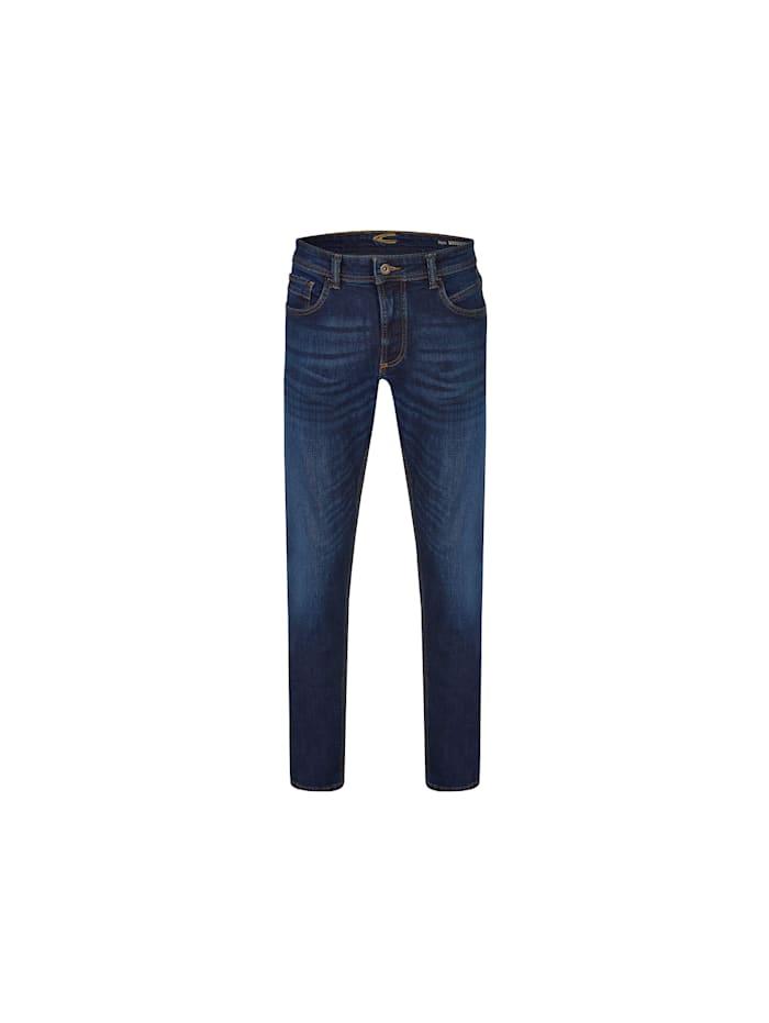 camel active Slim Fit Jeans, blau