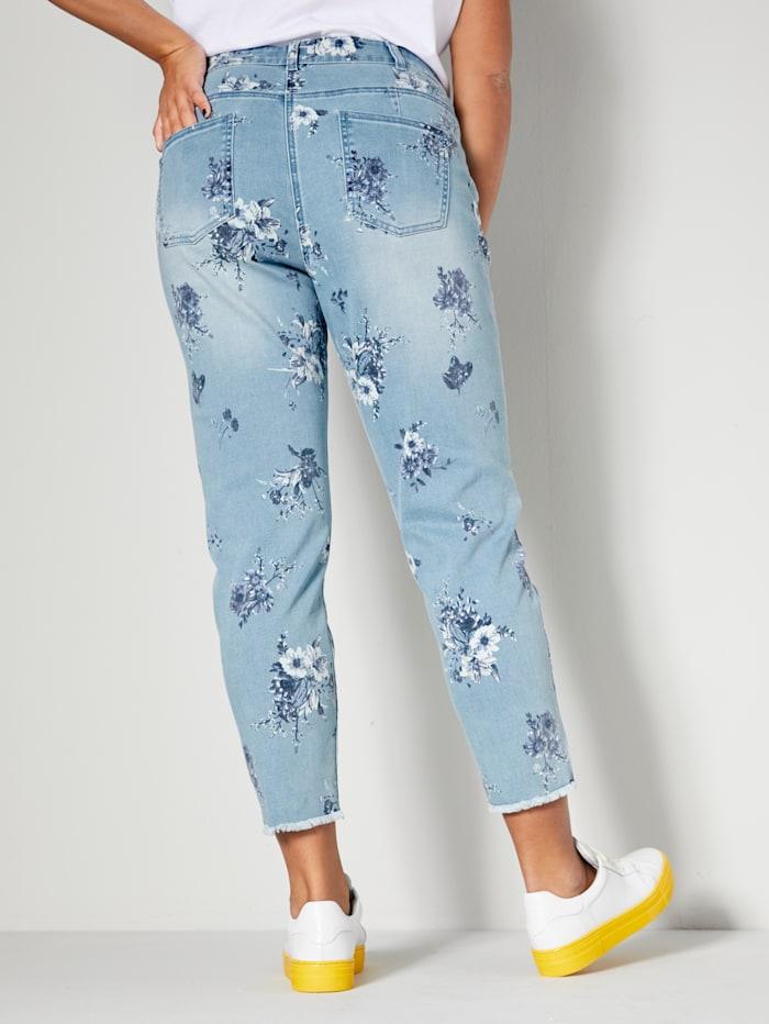 Jeans mit Blütenprint