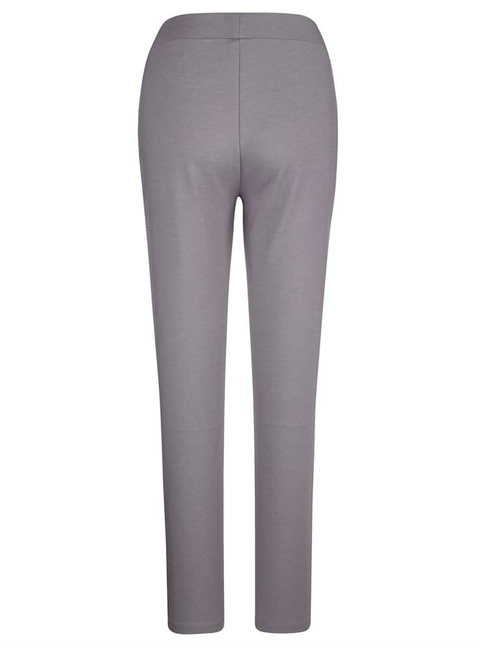Pantalons de loisirs avec passepoil rayé côté