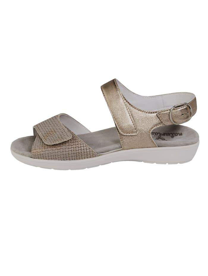 Sandály se skrytým zapínáním s patentkami