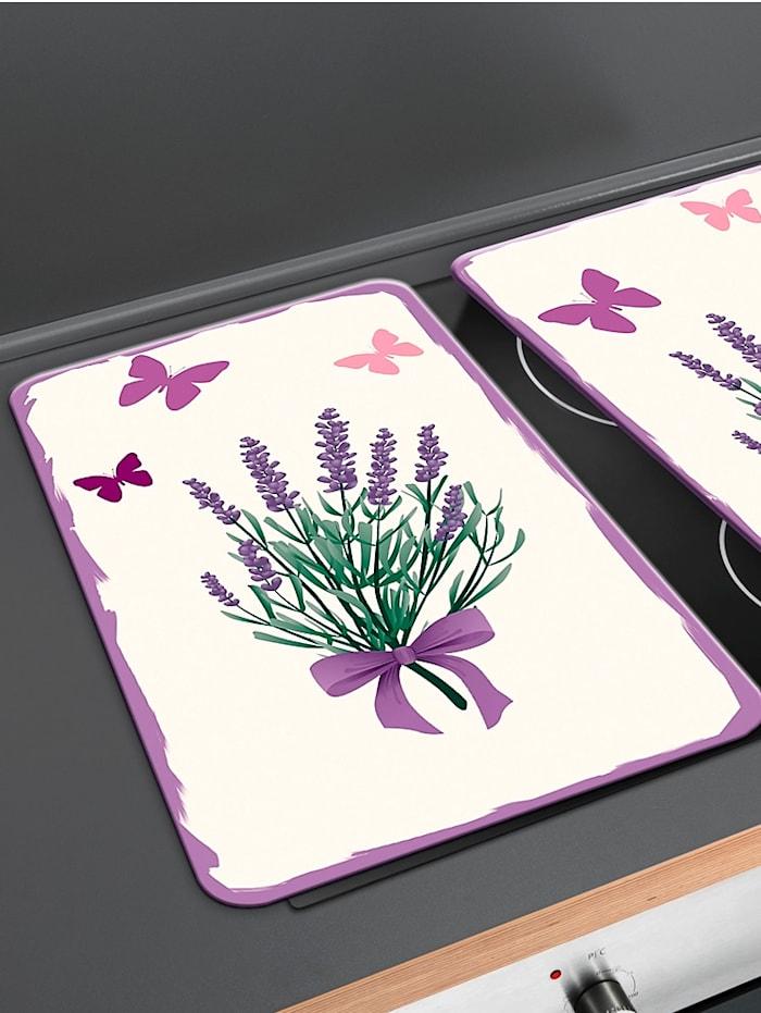 Wenko Komfyrdekkplate-sett i 2 deler, Lavendel Bouquet