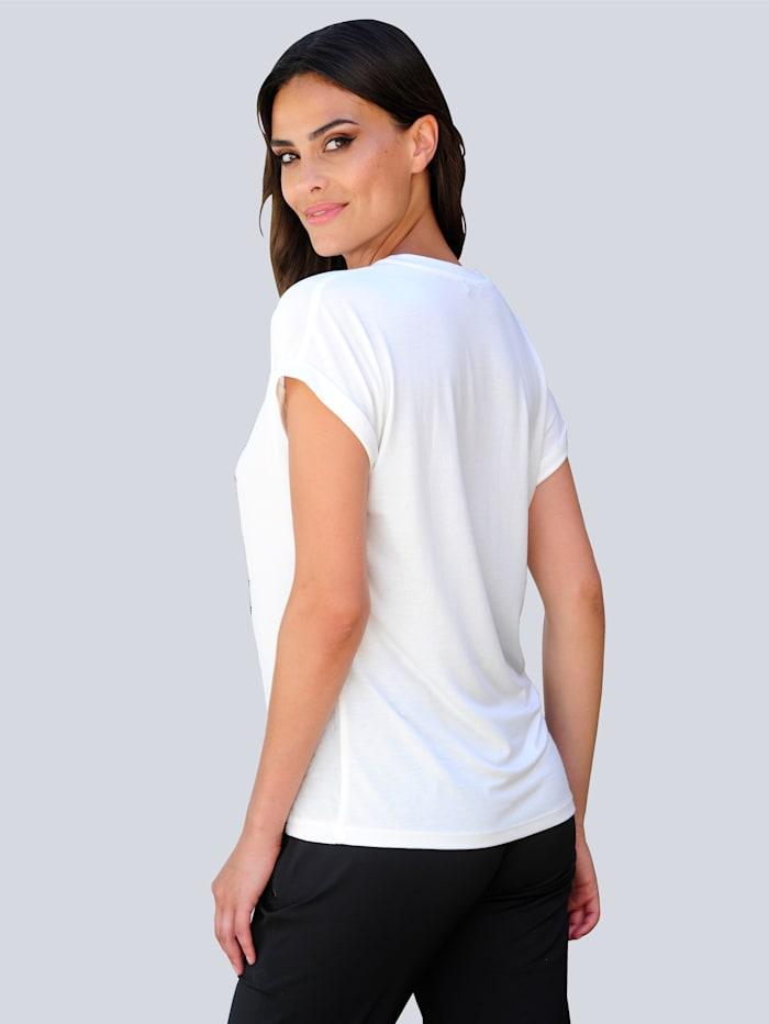 Shirt mit exklusivem Alba Moda Print im Vorderteil