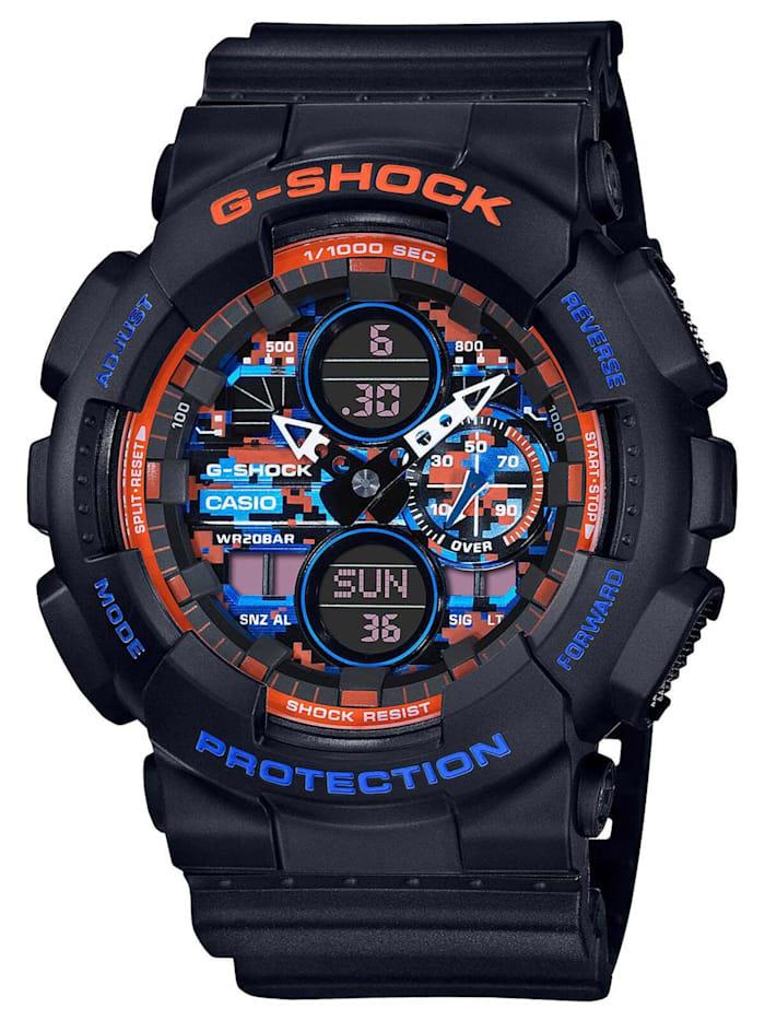 Casio G-Shock Classic Herrenuhr Schwarz/Orange/Blau, Schwarz