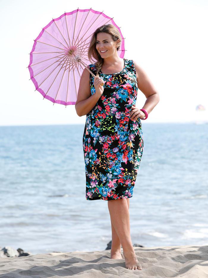 Strandkleid mit farbenfrohem Druck