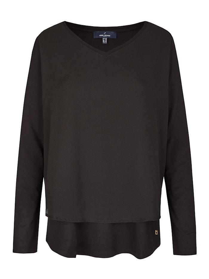 Daniel Hechter Modisches Shirt mit V-Ausschnitt, black