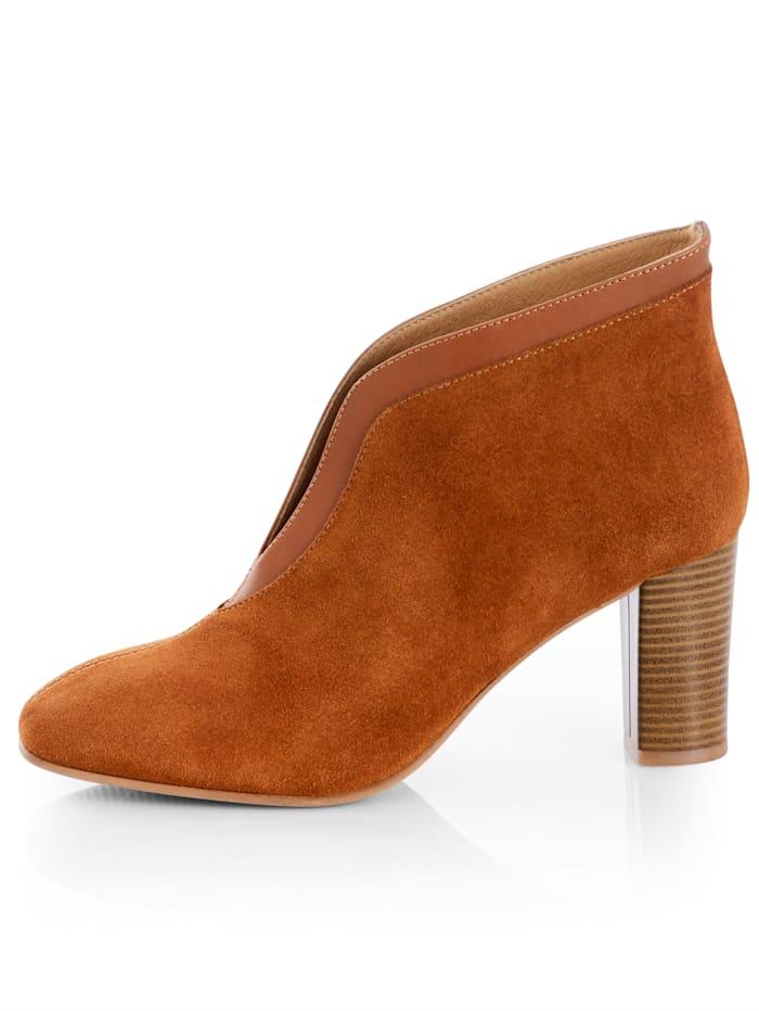Low boots en cuir vachette