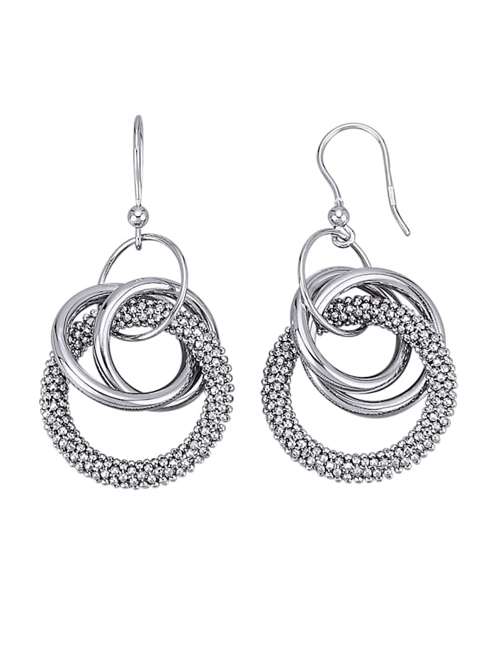 Amara Tendance Boucles d'oreilles en argent 925, Coloris argent