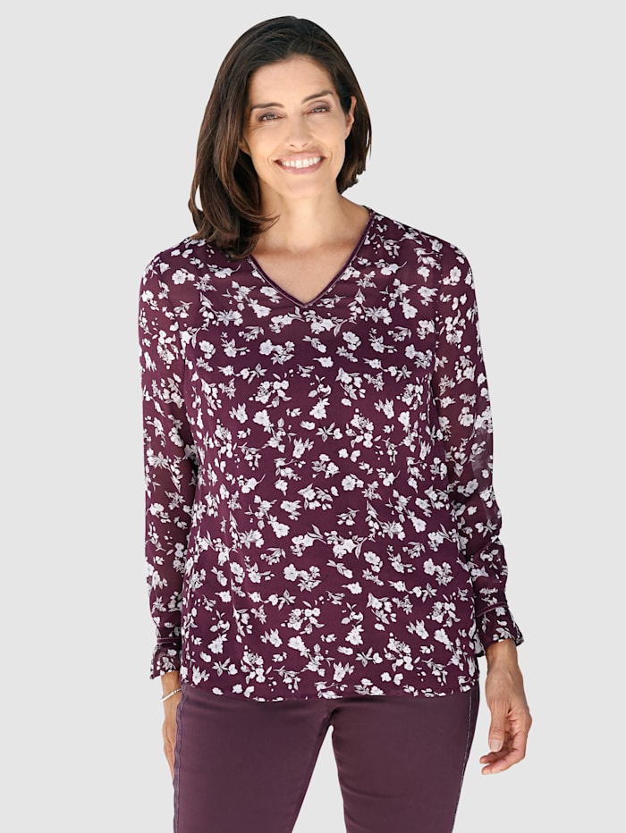 Printed blouse with matching top