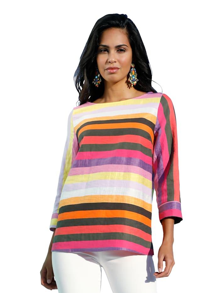 AMY VERMONT Bluse mit Streifenmuster, Multicolor