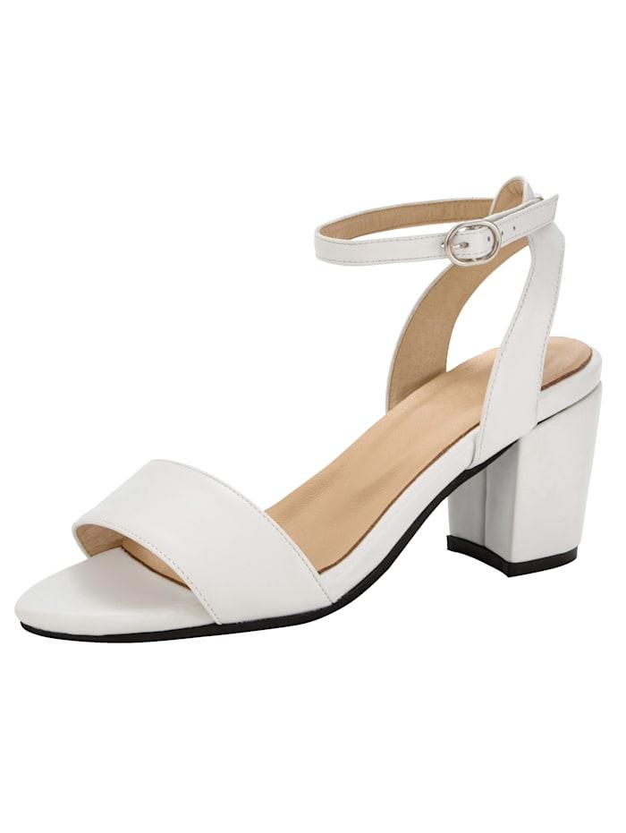 Sandale in trendiger Optik, Weiß