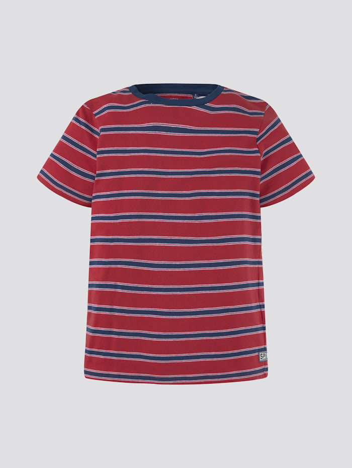 Tom Tailor Gemustertes T-Shirt, barberry|red