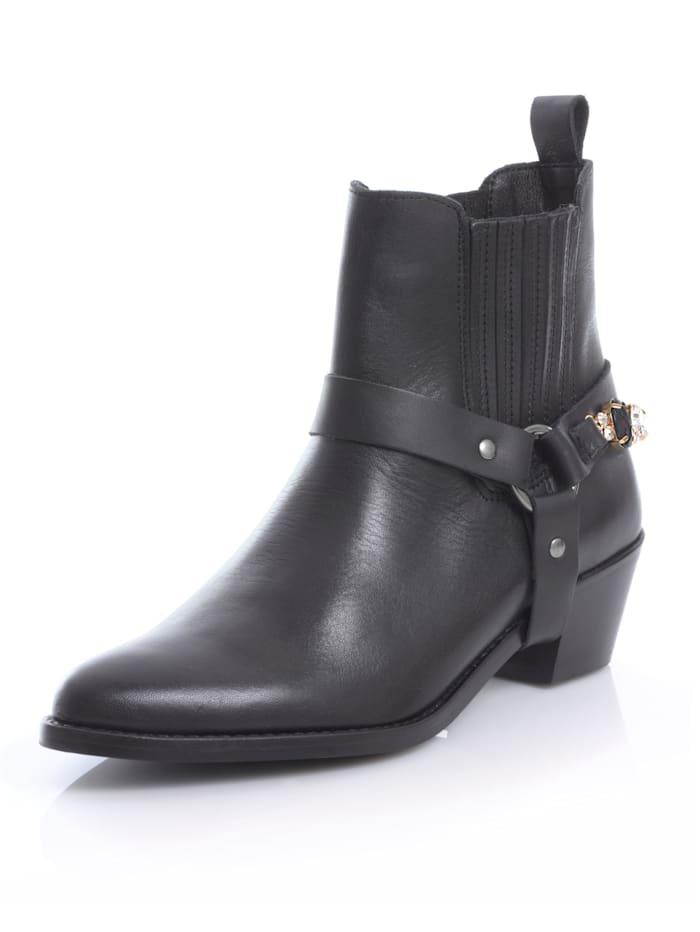 Alba Moda Boot im Cowboystil, Schwarz