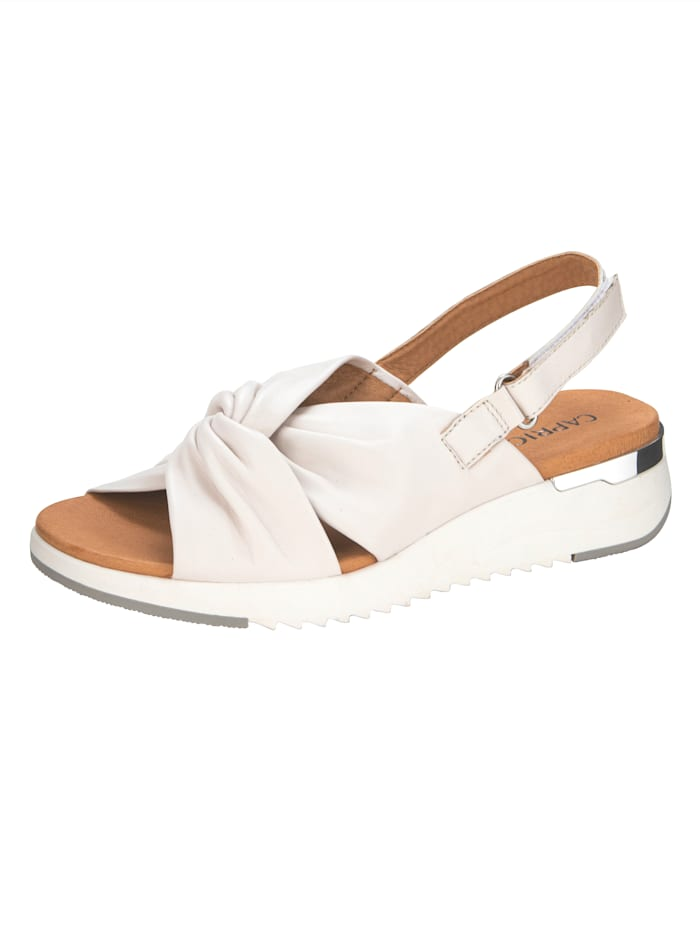Caprice Sandals with tie detail, Cream White
