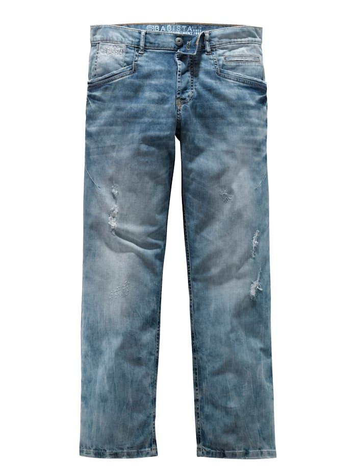 BABISTA Jeans mit modischen Details, Blau