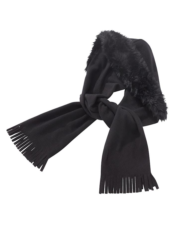 Faustmann Sjaal met capuchon, zwart
