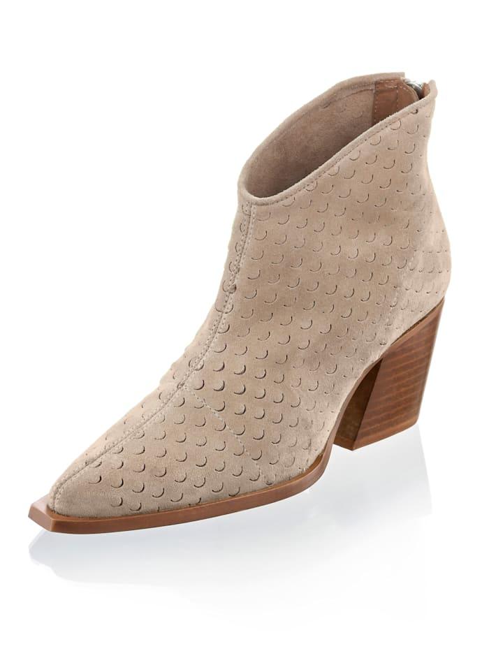 Alba Moda Boot im Cowboy-Style, Beige